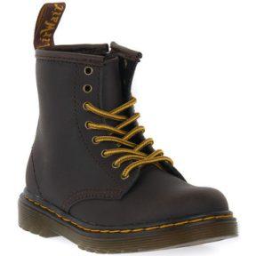 Μπότες Dr Martens 1460 Y DARK BROWN WILD LAMPER [COMPOSITION_COMPLETE]