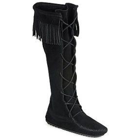 Μπότες για την πόλη Minnetonka FRONT LACE HARDSOLE KNEE HI BOOT